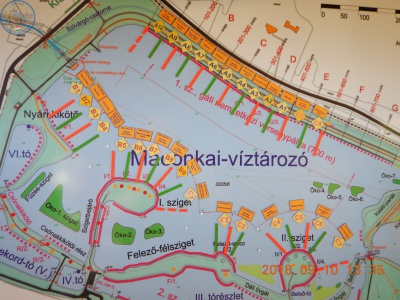 A helyválasztás eredménye a térképen